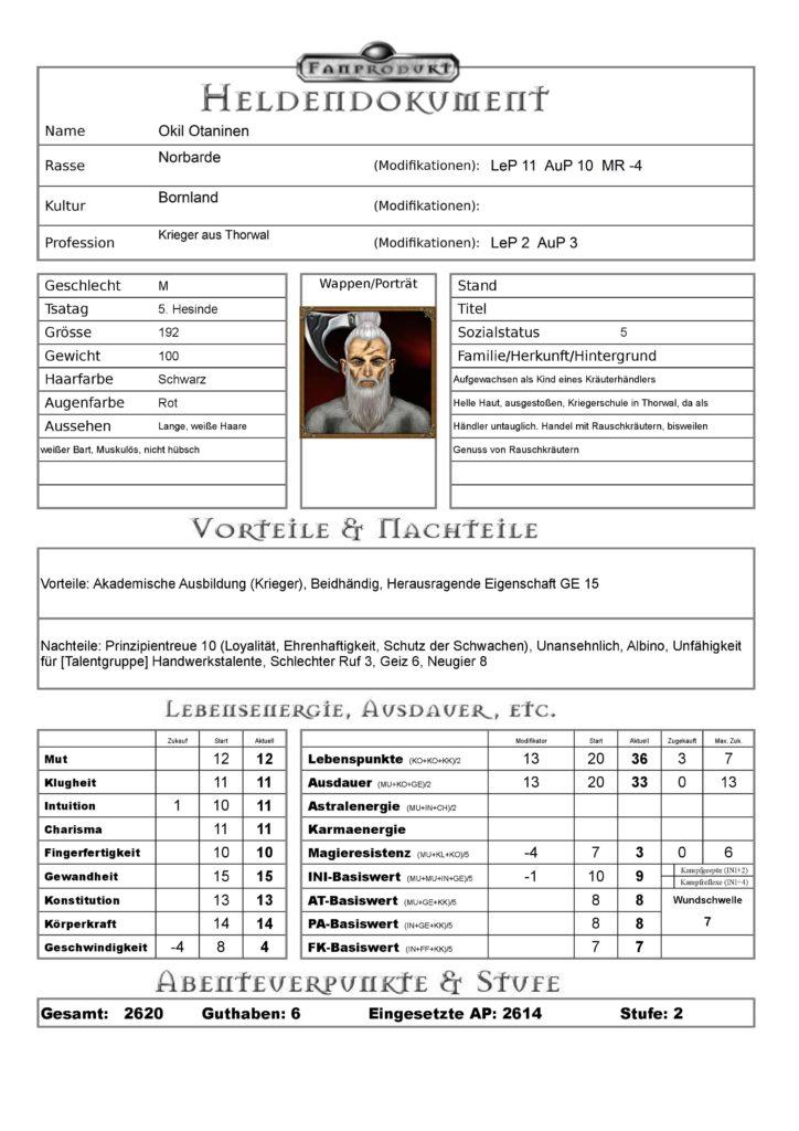 DSA-Charakterblatt