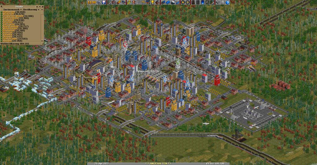 OpenTTD-Stadt