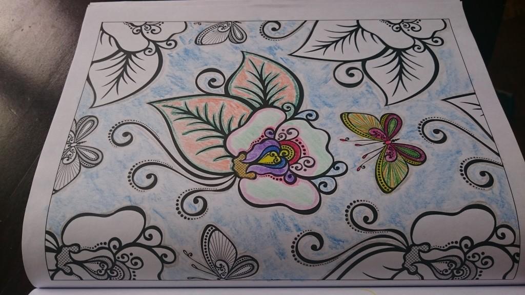 Angefangenes Bild mit Blume